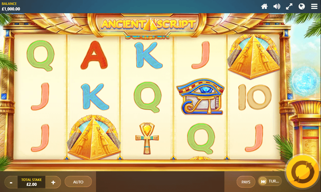 Ancient Script slot UK