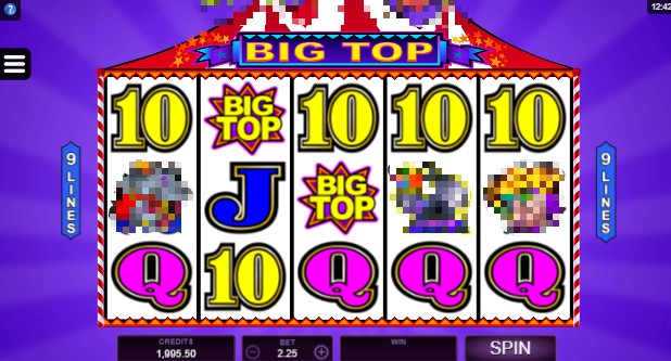 Big Top slot UK