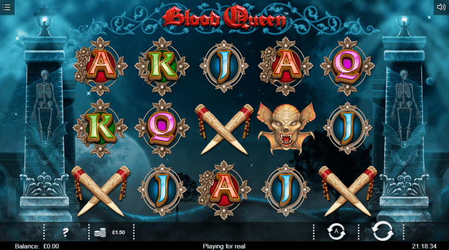 Blood queen slot game