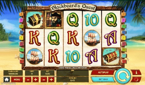 blackbeards quest slot UK