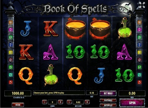 Book of Spells slot UK