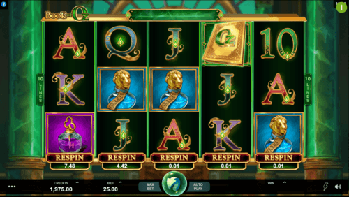 Book of Oz slot UK