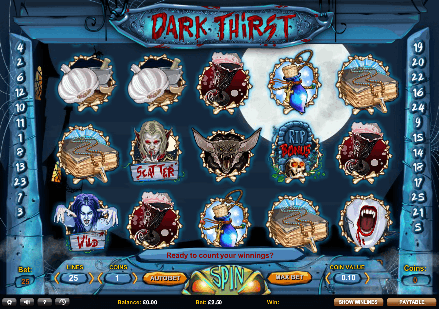dark thirst slot game