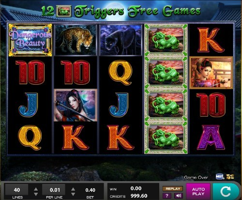 Dangerous Beauty slot UK