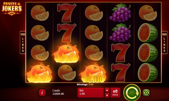 Fruits & Jokers: 100 Lines slot UK