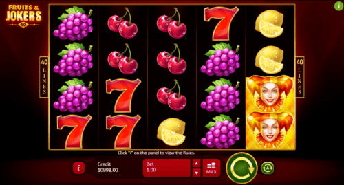 Fruits and Jokers: 40 lines slot UK