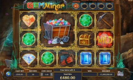 Gem Miner slot UK