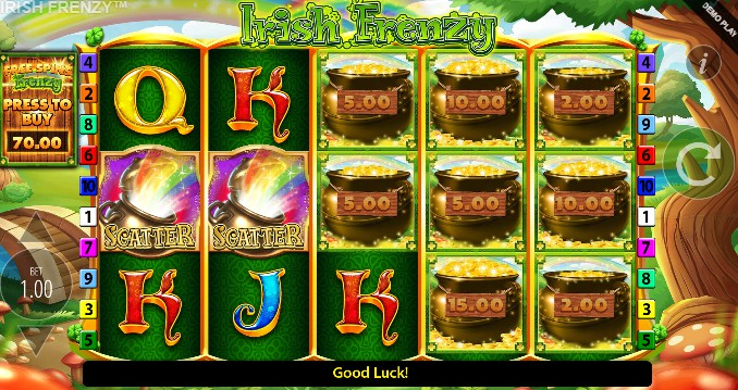Irish Frenzy slot UK