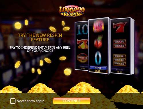 Million Coins Respin online slot