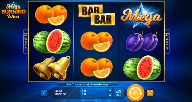 Mega Burning Wins slot UK