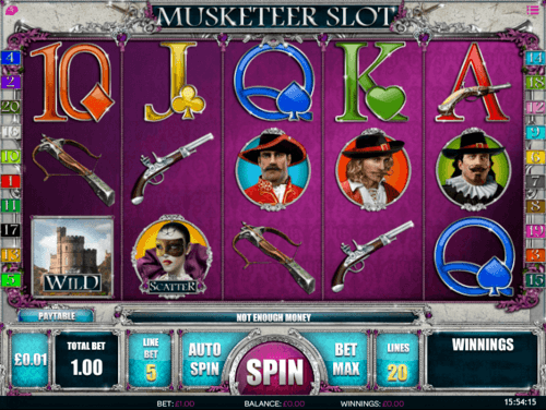 Musketeer uk slot