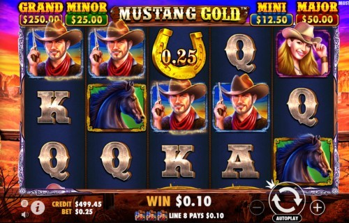 mustang gold slot UK
