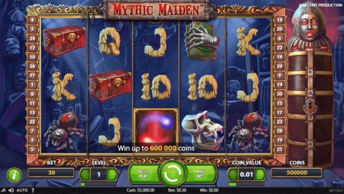 Mythic Maiden slot UK
