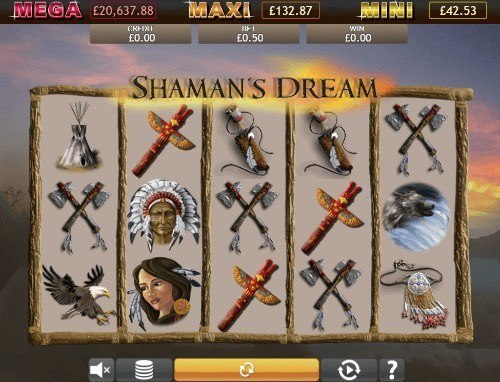 Shamans Dream Jackpot slot UK
