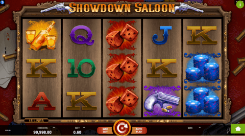 Showdown Saloon slot UK