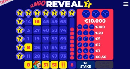 Slingo Reveal slot UK
