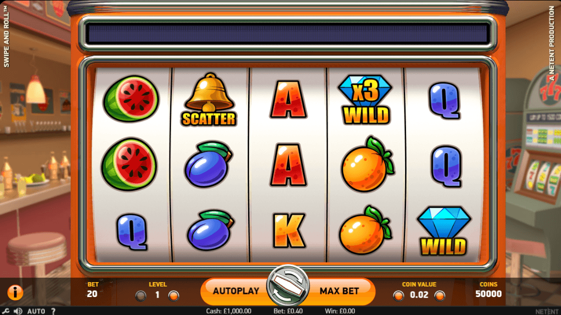 Swipe & Roll slot UK
