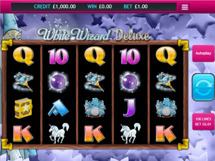 White Wizard Deluxe slot game