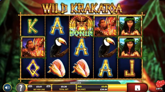 Wild Krakatoa slot UK