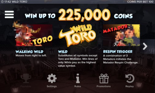 Wild Toro Screenshot Bonus Feature