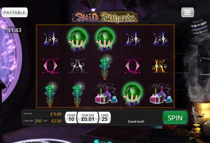 Wild Wizards slot game