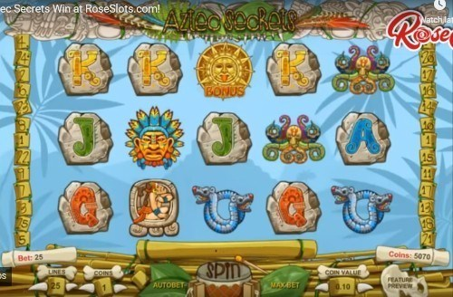 Aztec Secrets slot UK