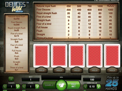Deuces Wild Double Up online casino