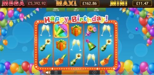 Happy Birthday Jackpot slot UK