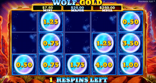 wolf gold slot money respin