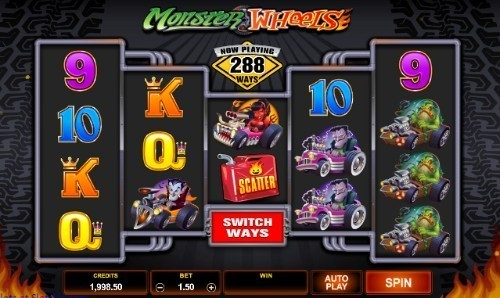 Monster Wheels slot UK