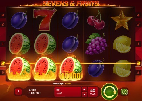 Sevens & Fruits slot UK