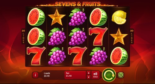 Sevens & Fruits: 20 Lines slot UK
