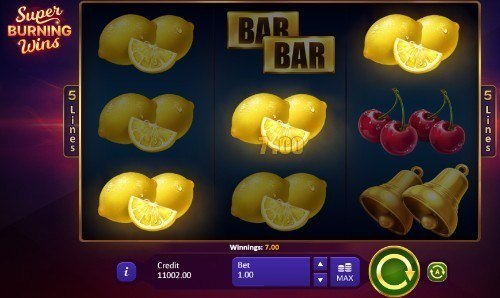 Super Burning Wins slot UK