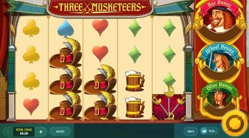 Three Musketeers slot UK