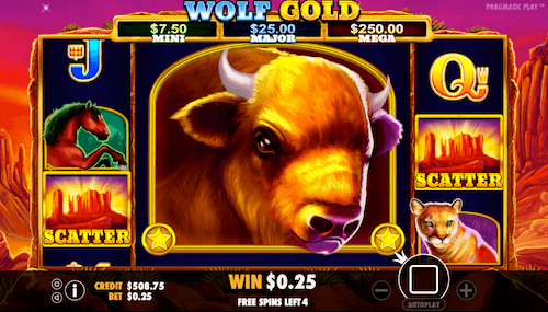 wolf gold slot epic reel