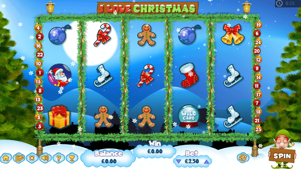 I LOVE CHRISTMAS slot 1