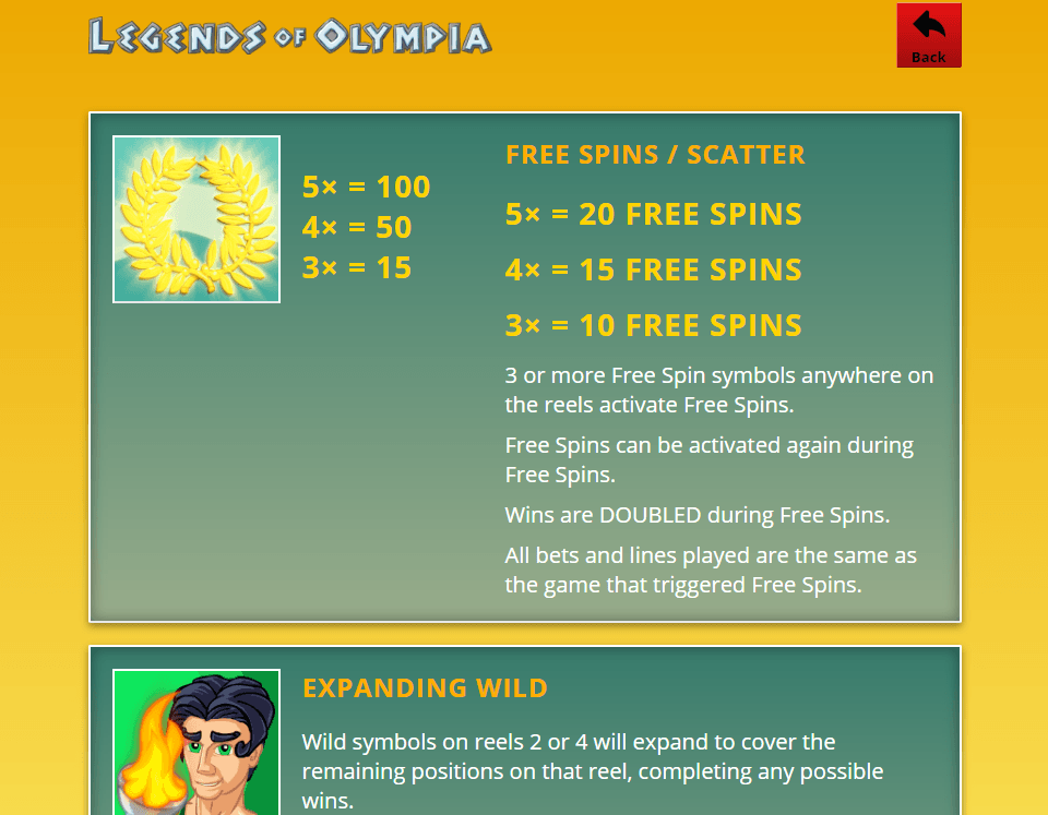 LEGENDS OF OLYMPIA slot 2